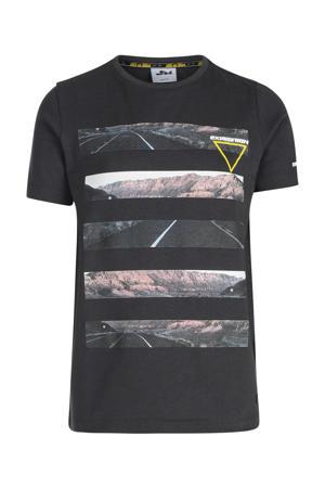 T-shirt Jari met printopdruk antraciet
