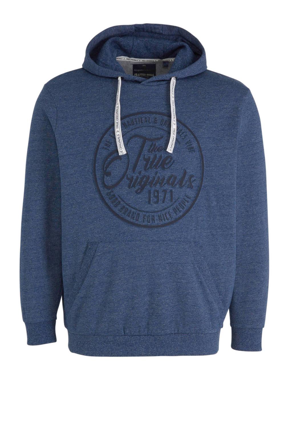 C&A XL Angelo Litrico hoodie met printopdruk donkerblauw, Donkerblauw