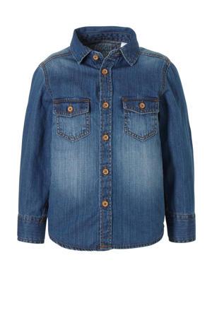 denim overhemd stonewashed
