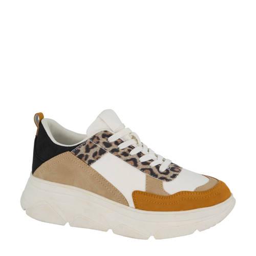 Graceland chunky sneakers wit/panterprint