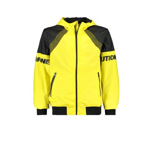 CoolCat Junior zomerjas Joell met tekst geel/zwart