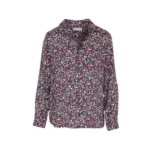 Cassis gebloemde blouse marine/multi