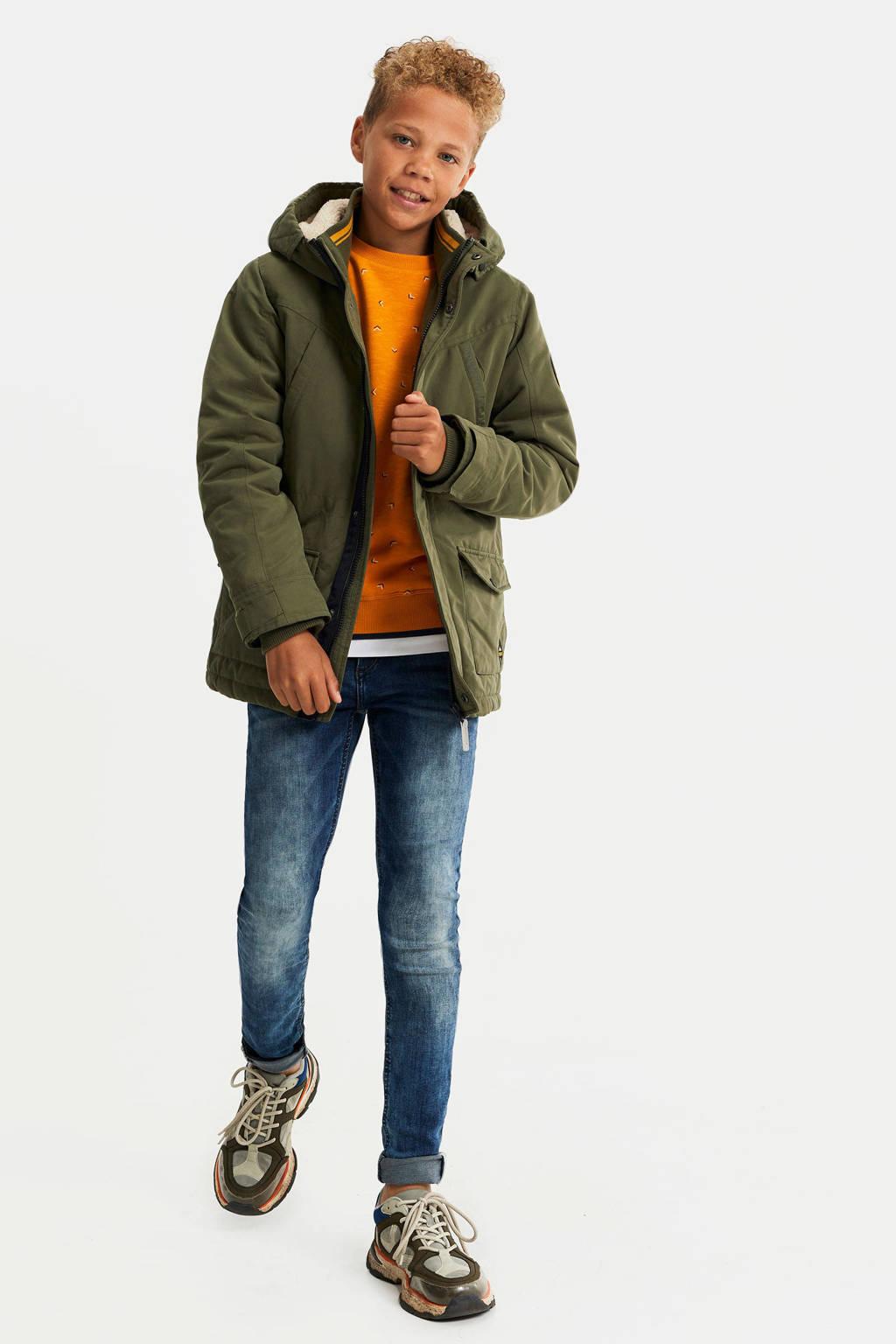 WE Fashion parka winterjas kaki, Kaki