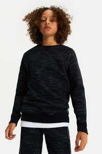 WE Fashion gemêleerde sweater black uni, Black Uni