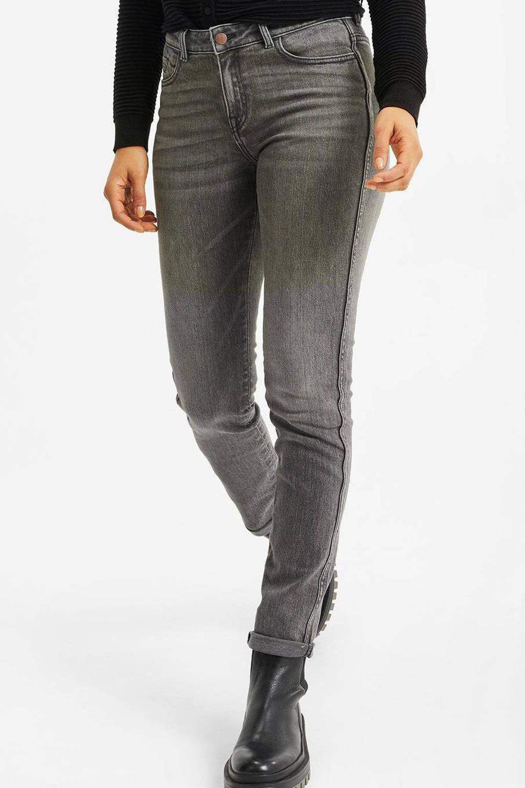WE Fashion Blue Ridge slim fit jeans grey denim, Grey denim
