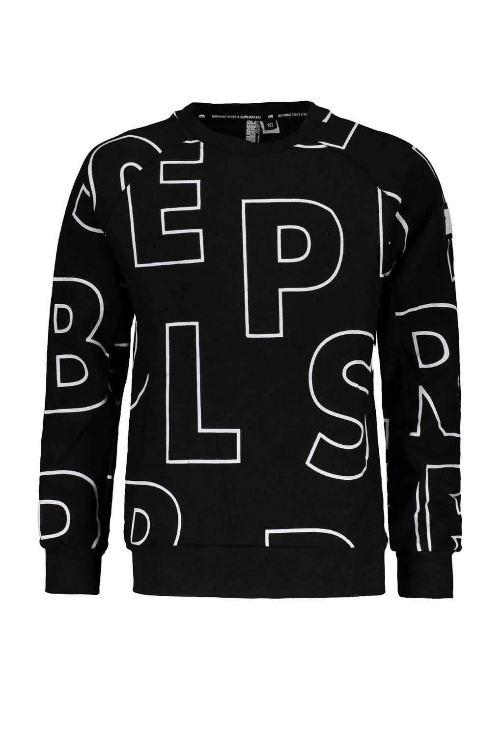 SuperRebel sweater zwart, Zwart