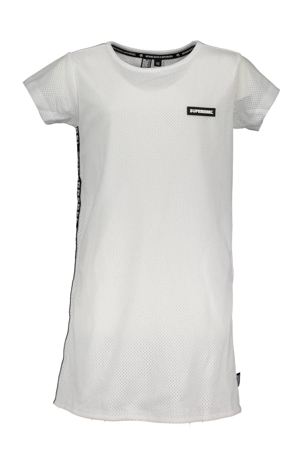 SuperRebel T-shirt jurk wit, Wit