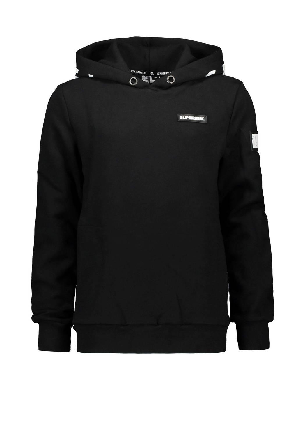 SuperRebel hoodie zwart, Zwart