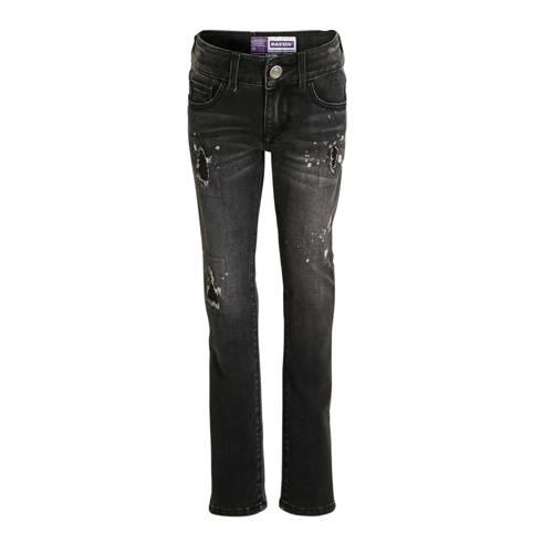 Raizzed skinny jeans Georgia zwart denim stonewash