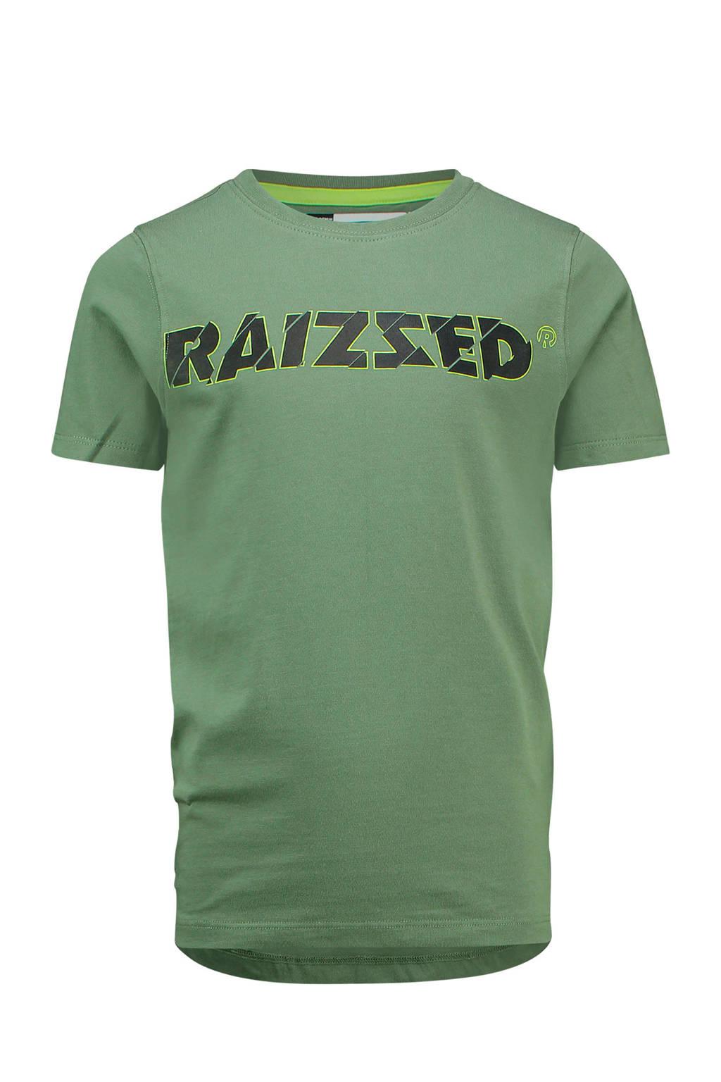 Raizzed T-shirt Helsinki met logo groen, Groen