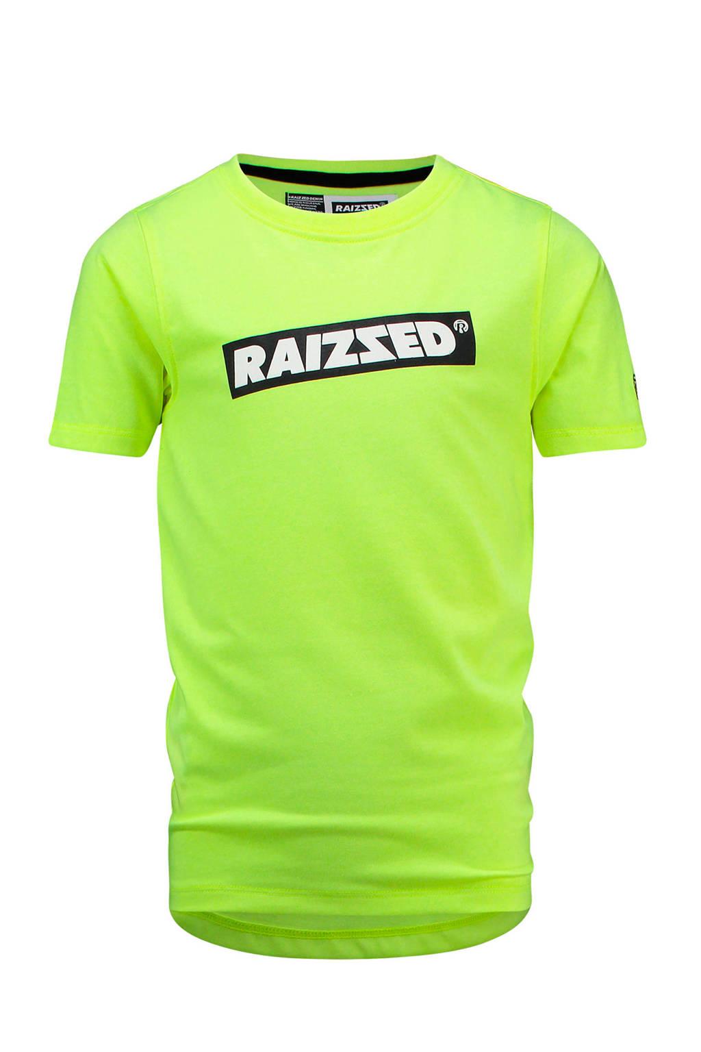 Raizzed T-shirt Hudson met logo limegroen, Limegroen