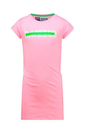 T-shirtjurk Malaga met logo lichtroze