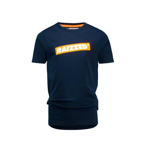 Raizzed T-shirt Hudson met logo donkerblauw