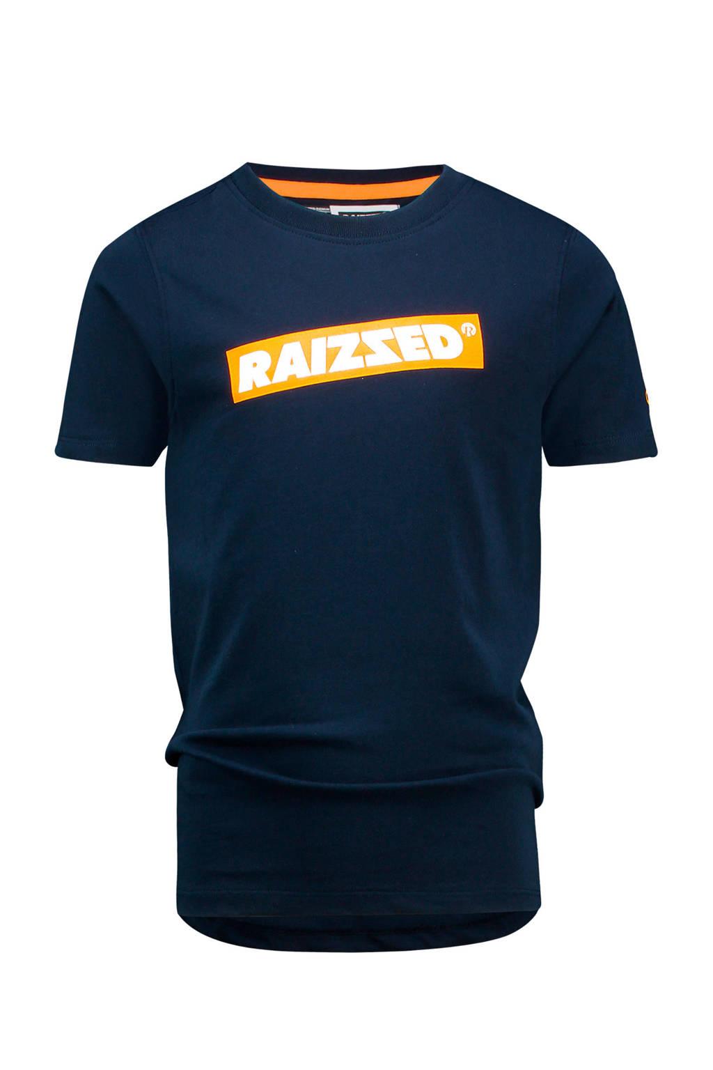 Raizzed T-shirt Hudson met logo donkerblauw, Donkerblauw