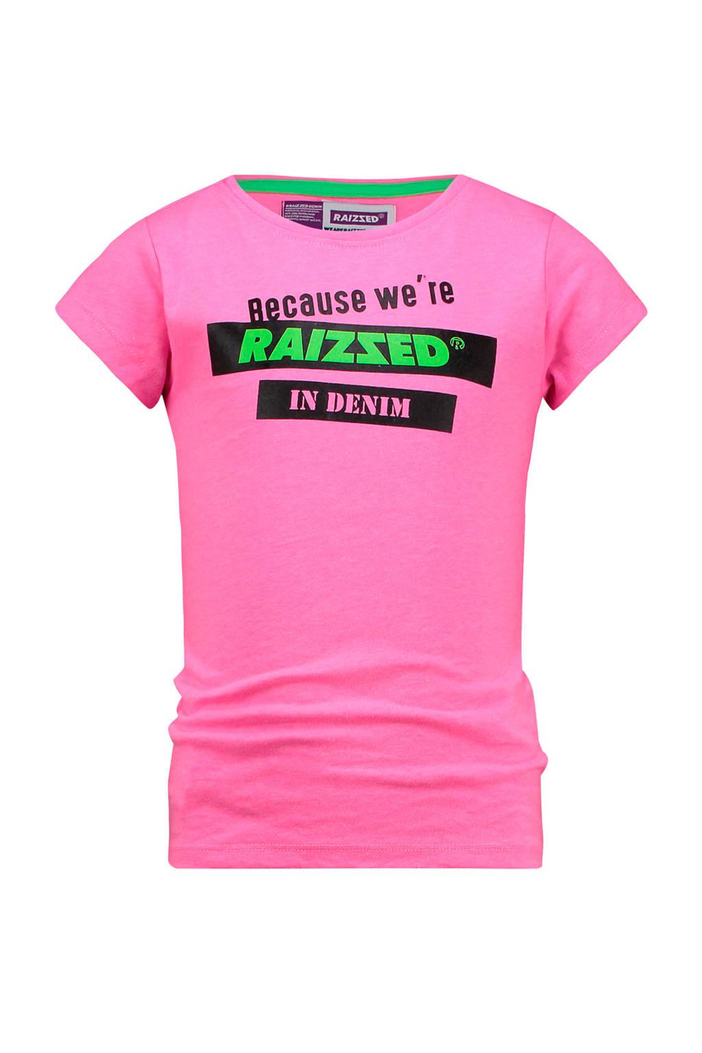 Raizzed T-shirt Atlanta met printopdruk felroze, Felroze