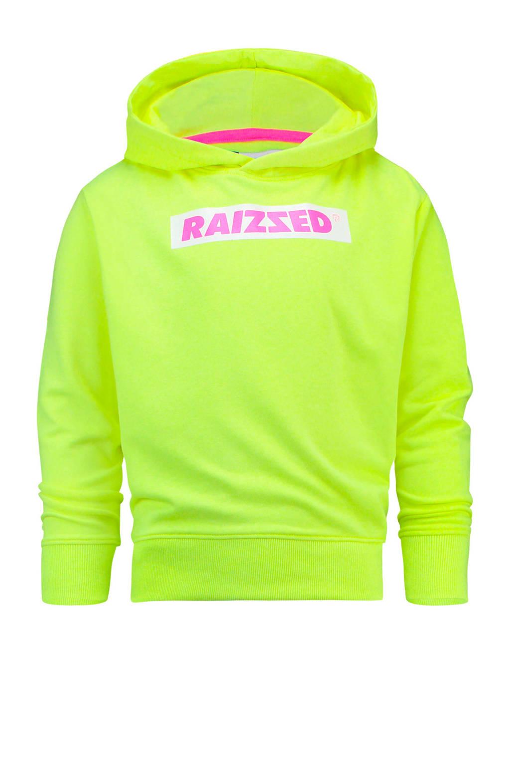 Raizzed hoodie Liverpool met logo neon limegroen, Neon Limegroen