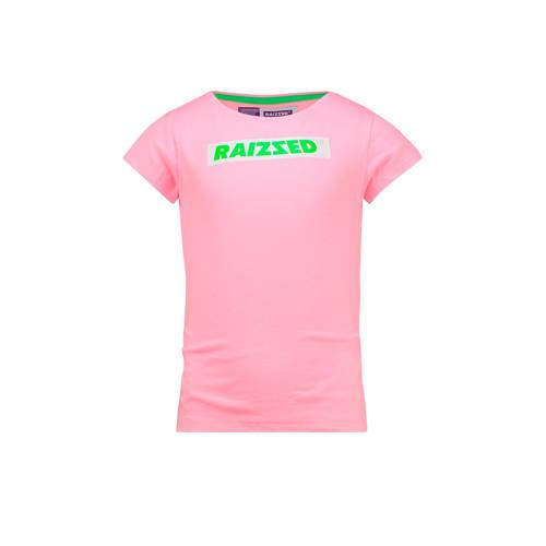 Raizzed T-shirt Budapest met logo lichtroze