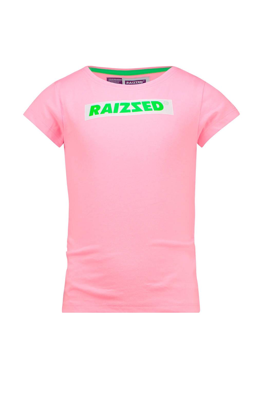 Raizzed T-shirt Budapest met logo lichtroze, Lichtroze