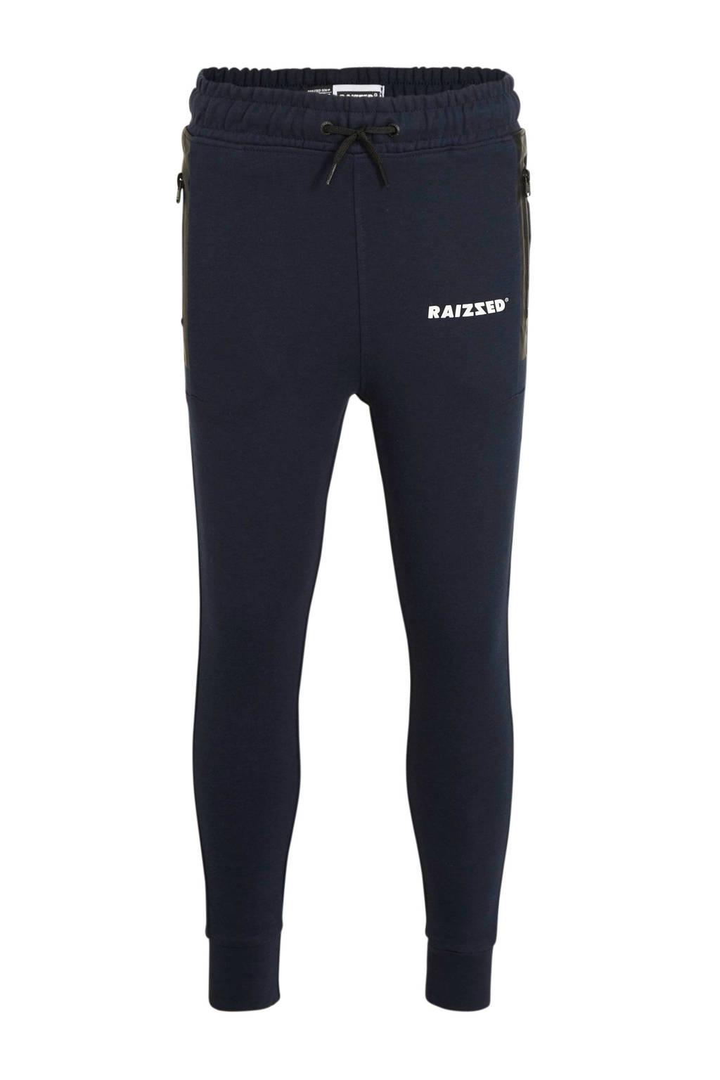 Raizzed   skinny joggingbroek Seattle donkerblauw/wit/zwart, Donkerblauw/wit/zwart