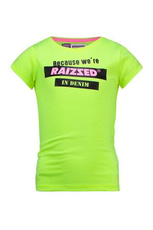 T-shirt Atlanta met printopdruk limegroen