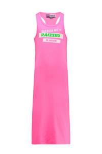 Raizzed jersey maxi jurk Minisota met printopdruk fel roze, Fel roze