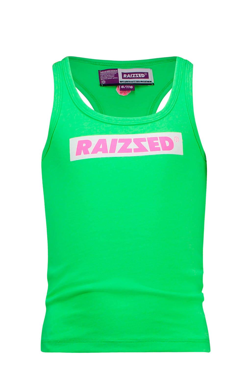 Raizzed top Phoenix met logo neon groen, Neon groen