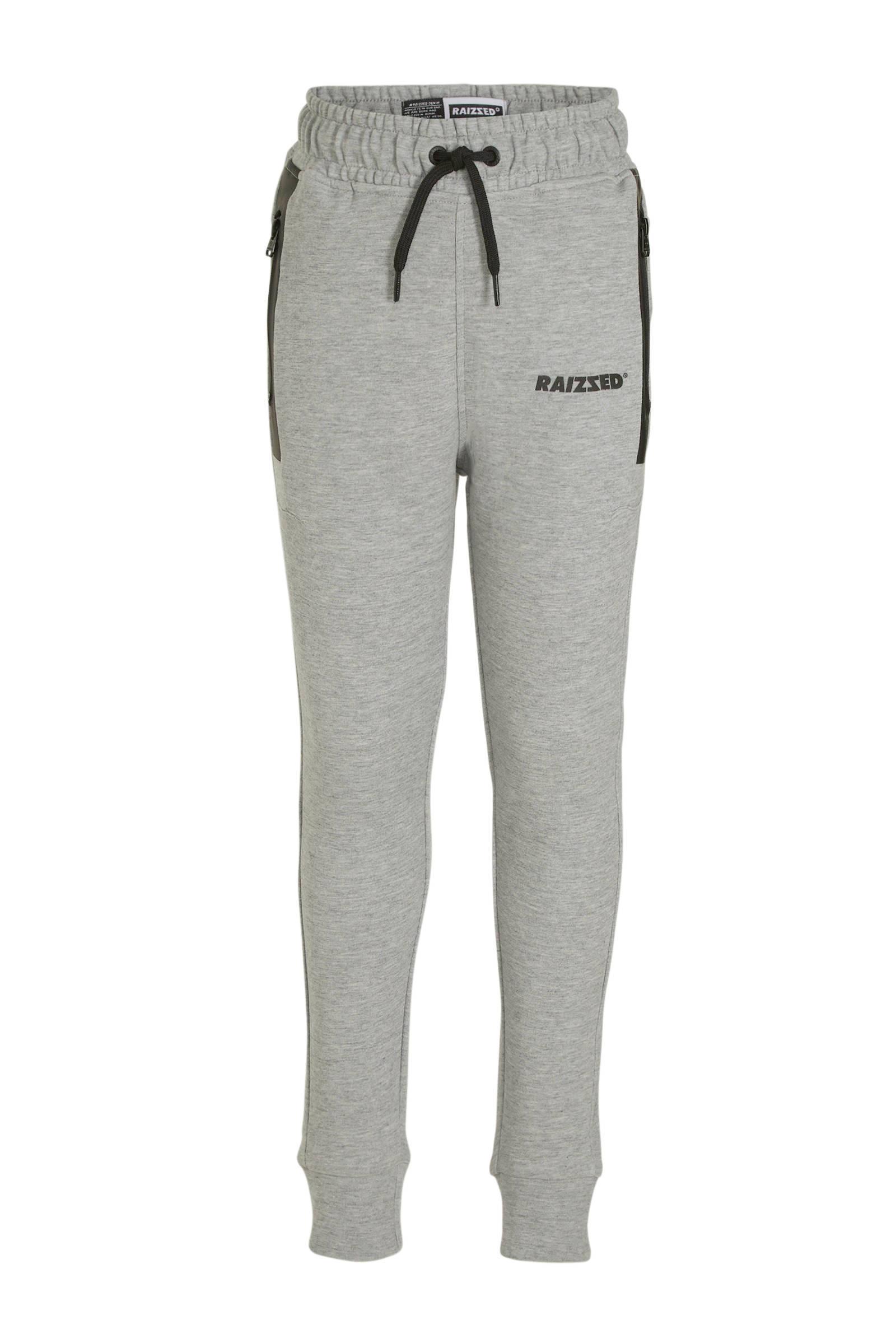 Raizzed skinny joggingbroek Seattle grijszwart | wehkamp