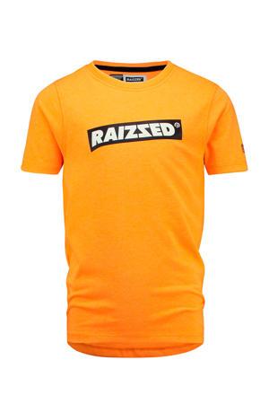T-shirt Hudson met logo oranje
