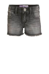 Raizzed high waist jeans short Louisiana dark grey stone, Dark grey stone