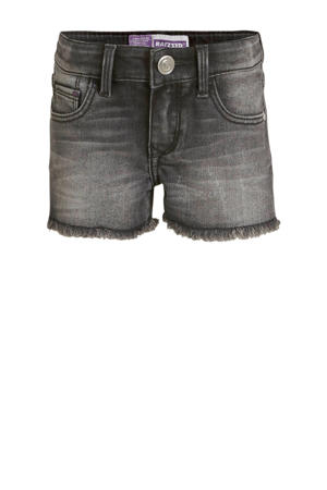 high waist jeans short Louisiana dark grey stone