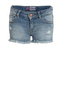 Raizzed high waist jeans short Louisiana light blue stone, Light blue stone
