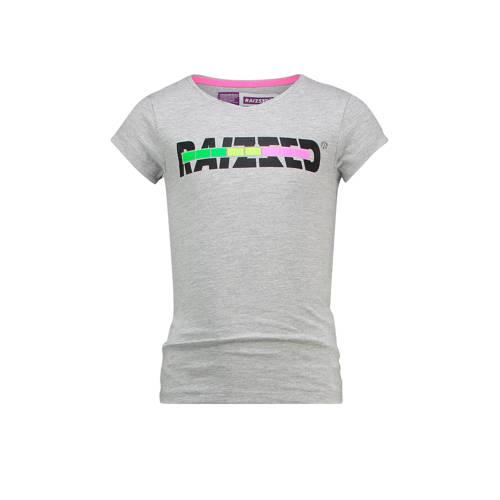 Raizzed T-shirt Venice met logo grijs melange