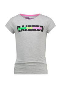 Raizzed T-shirt Venice met logo grijs melange, Grijs melange