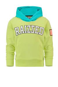 Raizzed hoodie New Port met logo lichtgroen/blauw/wit, Lichtgroen/blauw/wit