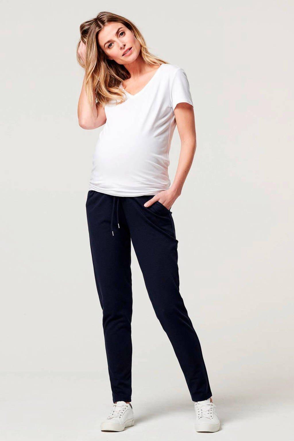 Noppies low waist skinny zwangerschapsbroek Renee donkerblauw, Donkerblauw