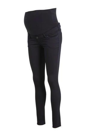 low waist super skinny zwangerschapsjeans Romy donkerblauw