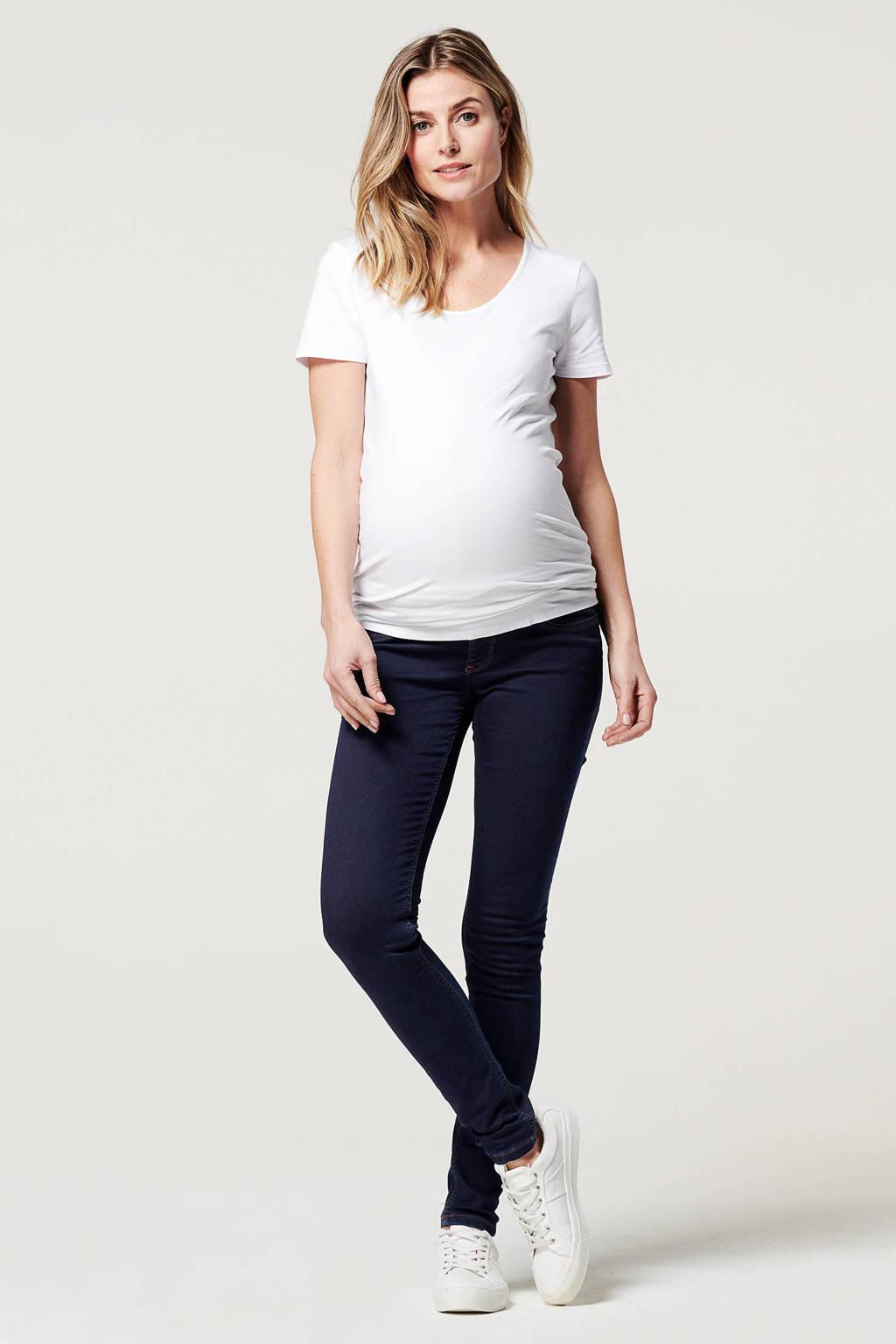 Noppies low waist super skinny zwangerschapsjeans Ella dark denim, Dark denim