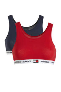 Tommy Hilfiger bh top - set van 2 rood/donkerblauw, Rood/donkerblauw
