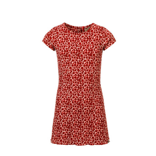 LOOXS A-lijn jurk met panterprint rood/roze
