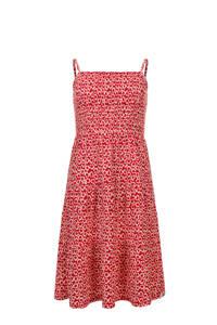 LOOXS little gebloemde A-lijn jurk rood/wit, Rood/wit