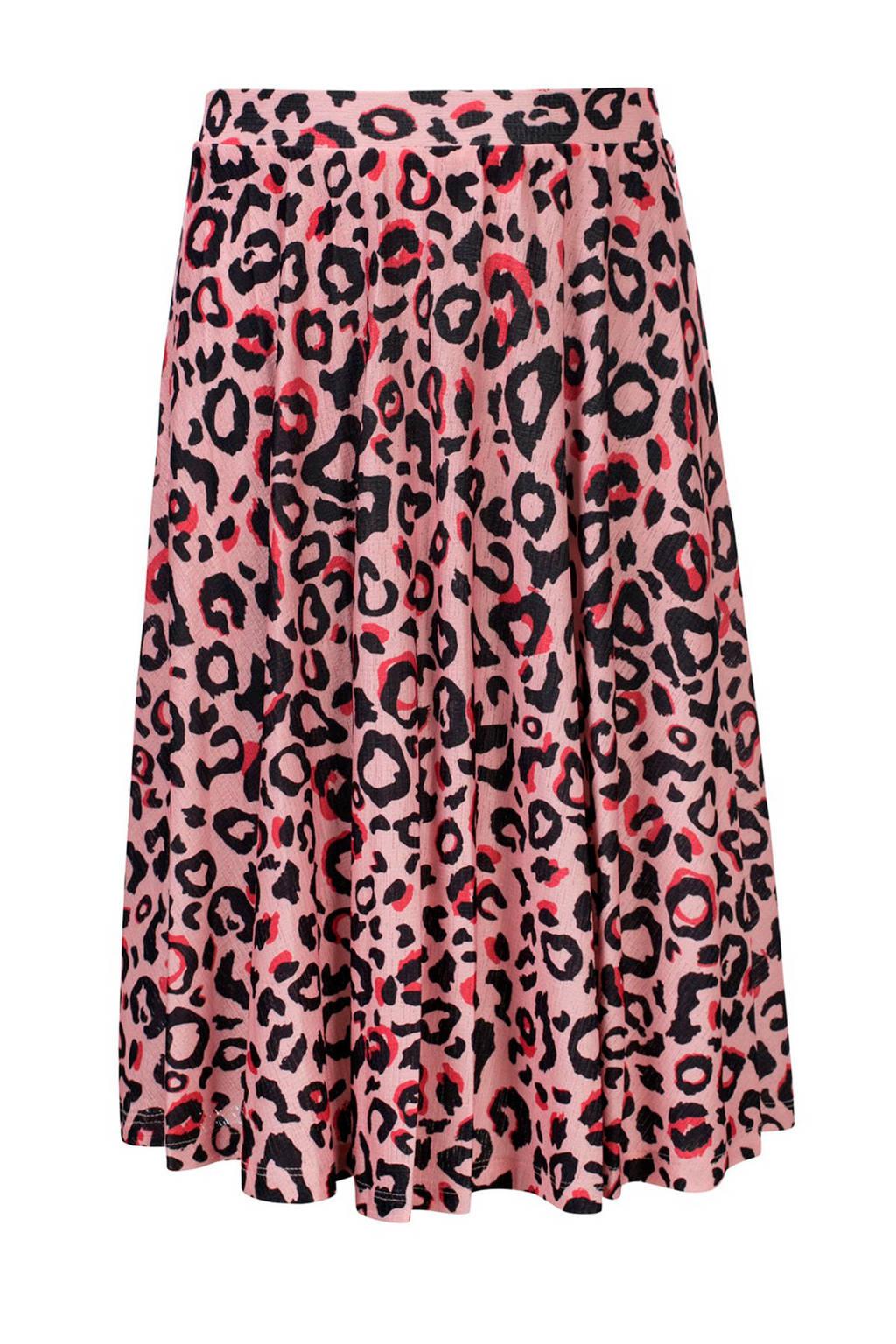 LOOXS rok met panterprint lichtroze/roze/zwart, Lichtroze/roze/zwart