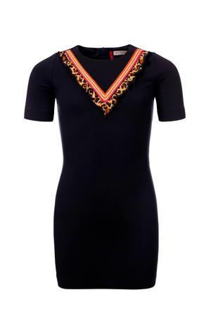 jurk marine/oranje