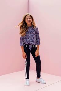 LOOXS slim fit broek met zijstreep donkerblauw, Donkerblauw