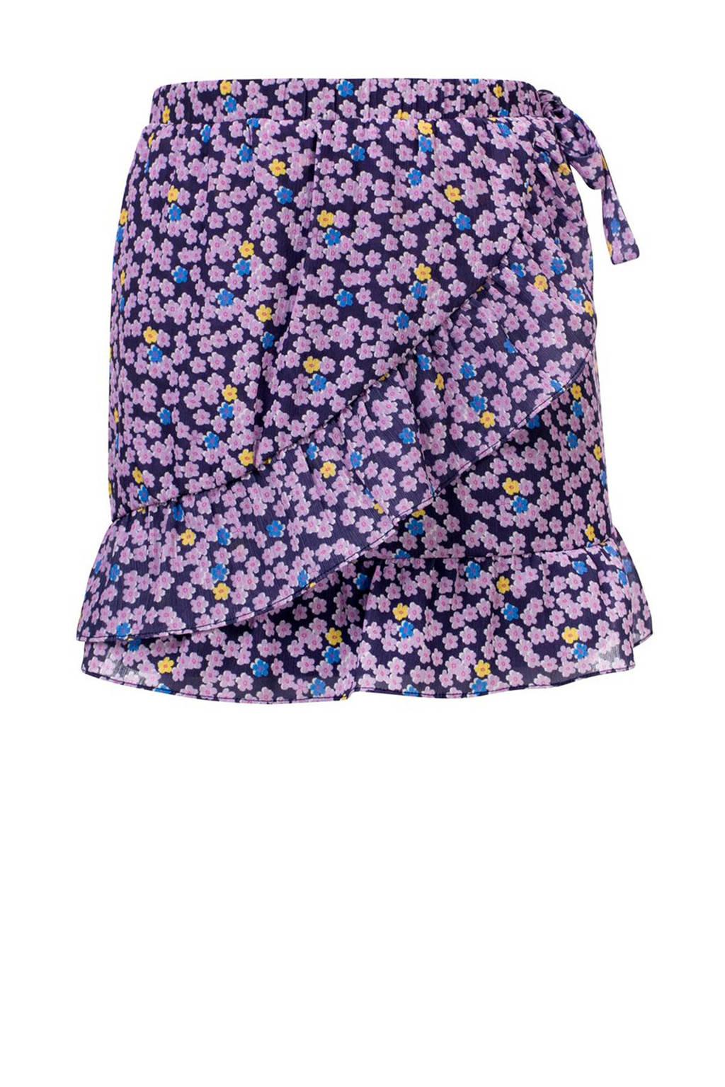LOOXS gebloemde rok lila/blauw, Lila/blauw