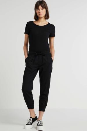 tapered fit joggingbroek zwart