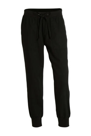 tapered fit joggingbroek zwart