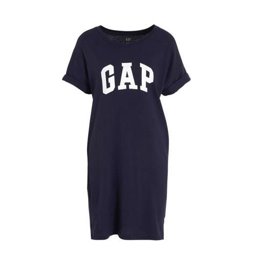 GAP T shirtjurk met logo marine, Deze damesjurk van GAP is gemaakt van katoen en heeft een logo-opdruk. De jurk heeft verder een ronde hals en korte mouwen.Extra gegevens:Merk: GAPKleur: BlauwModel: Jurk (Dames)Voorraad: 9Verzendkosten: 0.00Plaatje: Fig1Maat/Maten: MLevertijd: direct leverbaarAanbiedingoude prijs: € 44.95