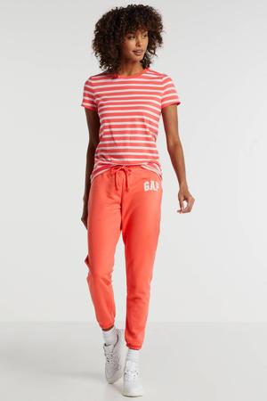 regular fit joggingbroek rood