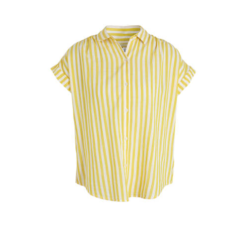 GAP gestreepte blouse geel