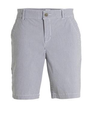 gestreepte straight fit short blauw/wit